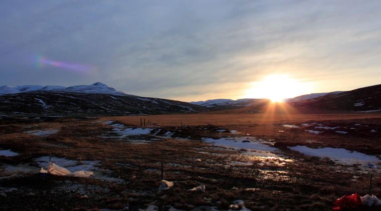 Skagheiði, Evening